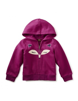 Fox Face Zip Hoodie by Tea Collection