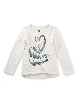 Peacock Graphic Tee by Tea Collection