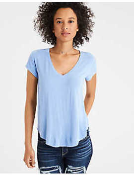 ae-soft-&-sexy-v-neck-t-shirt by american-eagle-outfitters