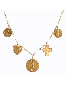 Multi Saint Necklace, Gold Plated by Dogeared