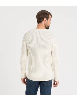 Mens Pure Wool Rib V Neck Cardigan by Wool Overs