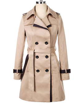 "<Span Itemprop=""Name"" Content=""Fashion Long Sleeve Double Breasted Slim Trench Coat"">Fashion Long Sleeve Double Breasted Slim Trench Coat</Span> by Oasap"