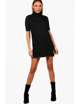 debi-turtle-neck-t-shirt-dress by boohoo