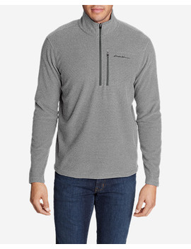 Men's Quest Textured Fleece 1/2 Zip by Eddie Bauer