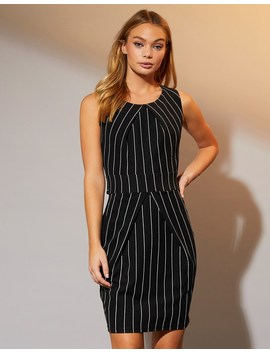 mela-london-pin-stripe-tulip-shift-dress by lipsy