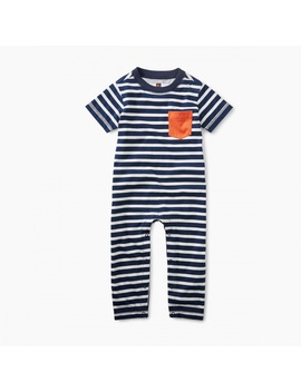 Classic Striped Romper by Tea Collection