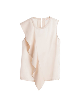 Silk Ruffle Top by Cuyana