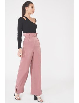 Satin Wide Leg Trouser by Lavish Alice