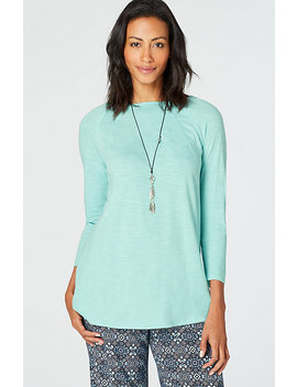 Seamed Boat Neck Tee by J.Jill