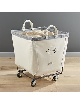 Steele ® Square Canvas Bin by Crate&Barrel