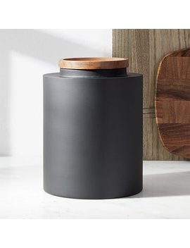 Clark Large Matte Black Canister by Crate&Barrel