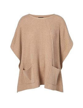 Life In Motion Washable Cashmere Blend Tie Side Poncho by Banana Repbulic