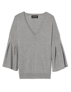 Todd &Amp; Duncan Cashmere Bell Sleeve Vee by Banana Repbulic