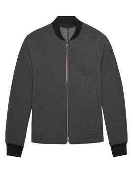 Stretch Knit Bomber by Banana Repbulic