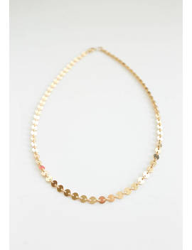 sequin-choker---14k-gold-filled-necklace---custom-length---layering-necklace---gift-for-her---disc-chain---simple-necklace---chain-necklace by etsy