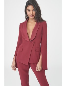 Fitted Blazer With Slit Sleeves by Lavish Alice