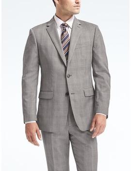 Standard Plaid Wool Suit Jacket by Banana Repbulic