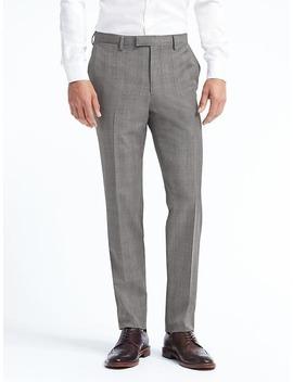 Standard Plaid Wool Suit Trouser by Banana Repbulic
