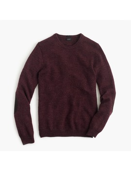 Slim Rustic Merino Elbow Patch Sweater by J.Crew