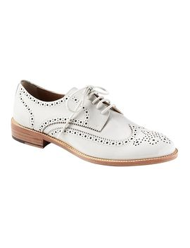 Leather Brogue Oxford by Banana Repbulic