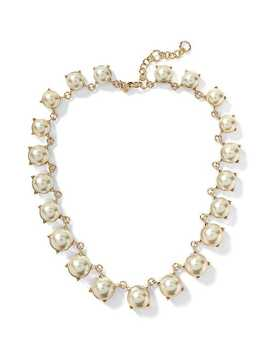 Modern Pearl Statement Necklace by Banana Repbulic