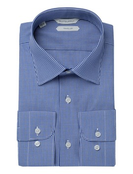 Navy Check Traveller Shirt by Suitsupply