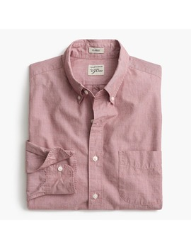Tall Secret Wash Shirt In End On End Cotton by J.Crew