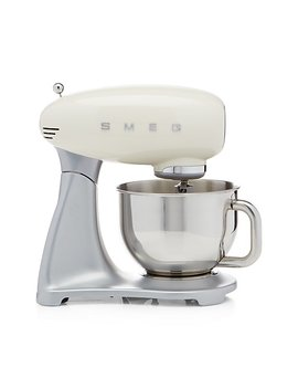 Smeg Cream Retro Stand Mixer by Crate&Barrel