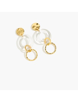 Lucite Circle Drop Earrings by J.Crew