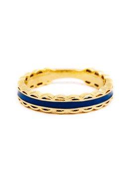 Scalloped Ring  Navy by Kiel James Patrick