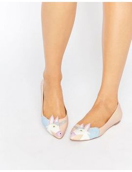 Asos Lulamoon Pointed Unicorn Ballet Flats by Asos Collection