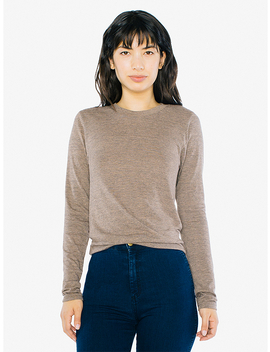 Unisex Tri Blend Long Sleeve T Shirt by American Apparel