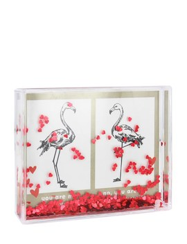 Paperchase Flamingos Valentine's Instax Wide Photo Dome by Lipsy