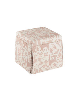 Anne Skirted Storage Ottoman, Pink Otomi by One Kings Lane