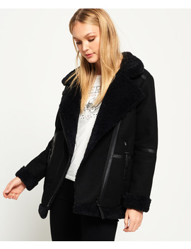 Ophelia Wool Aviator Jacket by Superdry