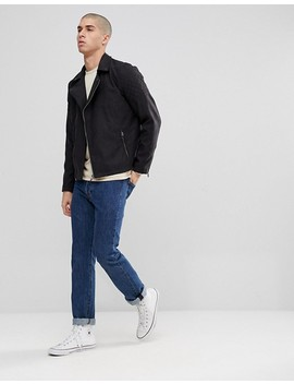 only-&-sons-faux-suede-biker-jacket by only-&-sons