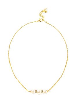 Pearl &Amp; Sparkle Necklace   Gold by Kiel James Patrick