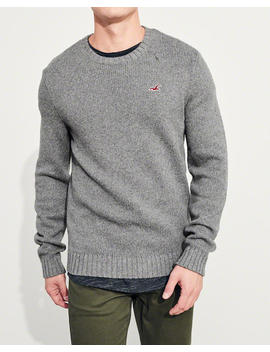 Wool Blend Crewneck Sweater by Hollister