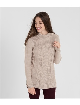 Womens Pure Wool Button Shoulder Sweater by Wool Overs