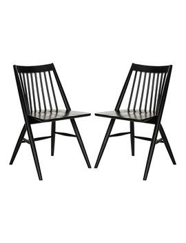 S/2 Bledsoe Side Chairs, Black by One Kings Lane