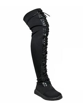 Desire Black Sneaker Boot by Bdonnas