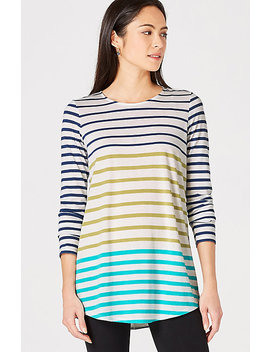Mixed Stripes Knit Tunic by J.Jill