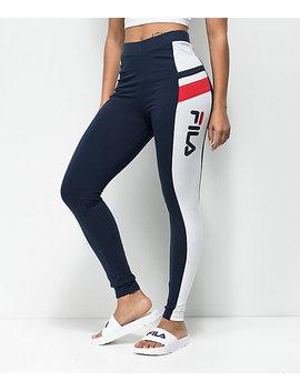 fila-greta-navy-&-white-leggings by fila