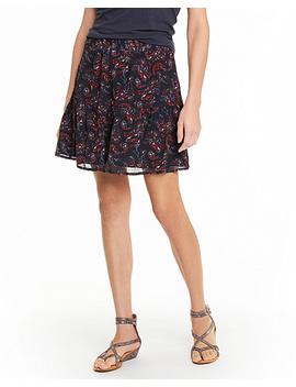 NewEasy Crinkled Silk Skirt by Garnet Hill