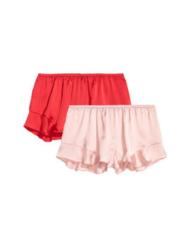 2er-pack-satinshorts by h&m