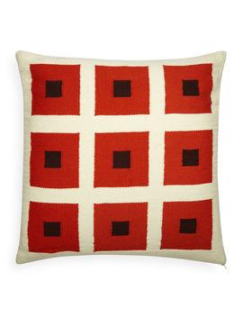 Reversible Orange/Chocolate Peter Pop Throw Pillow by Jonathan Adler