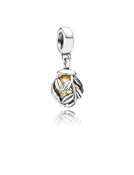 Golden Laurel Leaves Pendant Charm by Pandora
