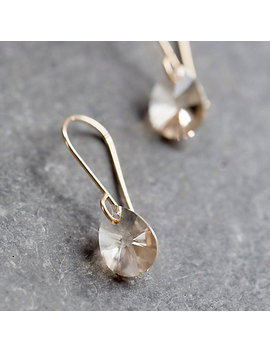 Peach Crystal Drop Earrings by Terrain