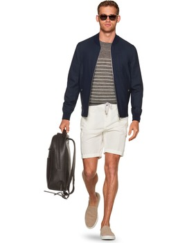 Navy Bomber Jacket by Suitsupply