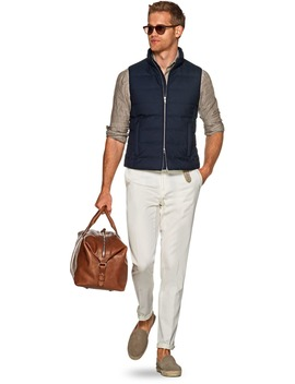 Navy Padded Vest by Suitsupply